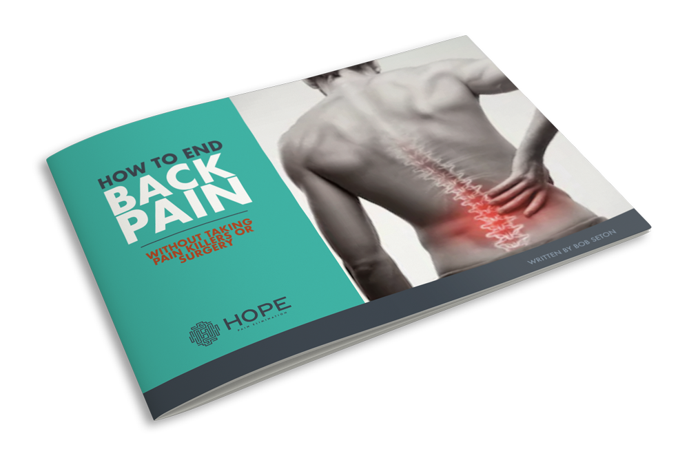 How to End Back Pain pamphlet provided by neck and shoulder pain center H.O.P.E. Pain Elimination in Miramar Beach, FL